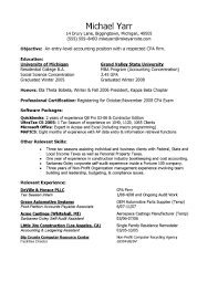 Entry Level Resume Examples by Entry Level Accounting Resume Sample Free Resume Example And