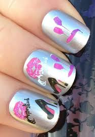 buy nail art water transfers sticker decals high heels lipstick