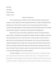 Essay Outline Format kite runner   Essay Final Copy Hill   Davis