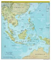Southeast Map Large Scale Political Map Of Southeast Asia With Relief Capitals