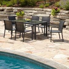 Martha Stewart 7 Piece Patio Dining Set - dark brown resin wicker patio furniture 4 types of resin wicker