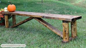Wooden Bench Plans To Build by Ana White Happier Homemaker Bench Diy Projects