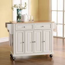 shop crosley furniture white craftsman kitchen island at lowes com