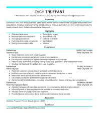 objective in resume examples best esthetician resume example livecareer resume tips for esthetician