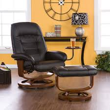 Swivel Recliner Chairs For Living Room Amazon Com Adjustable Black Leather Recliner And Ottoman Office