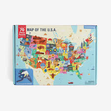 Map Of The Usa by Map Of The Usa 70 Piece Puzzle U2013 Bitte