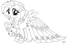 fluttershy coloring page free printable coloring pages