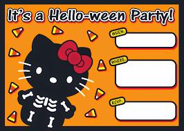 Halloween Free Printable Invitations I Love Kawaii Free Printable Halloween Hello Kitty Invitation Set
