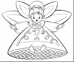 marvelous angel singing hallelujah cat with halo coloring page for