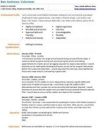 Volunteer Examples For Resumes by Volunteer Cv Example Learnist Org