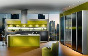 modern interior kitchen design feature grey l shaped kitchen