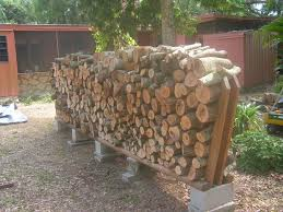 Free Firewood Shelter Plans by Firewood Rack Using No Tools With Pictures
