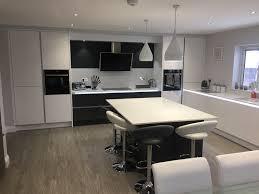 Kitchen Design Hertfordshire Tomba White Gloss And Graphite Kitchen Aston Hertfordshire