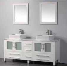 MTD Malta  Inch White Double Vessel Sinks Bathroom Vanity Solid - Black bathroom vanity with vessel sink
