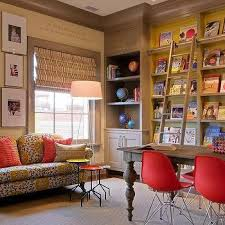 Homework Room Design Ideas Decorpad Homework Room with Built In Bookcases with Library Ladder