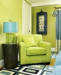 BlueGreen Interior Color Schemes Living Room Decorating - Green paint colors for living room