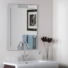 home decoration modern frameless full length bathroom mirror and