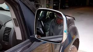 nissan navara d40 wing door mirror swap upgrade youtube