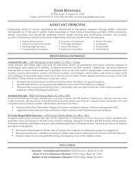 sample resume of teacher applicant school administrator principal s resume sample educational resume and vice principal assistant principal resume sample