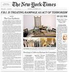 Image result for new york times front page newspaper