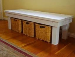 Wood Bench Plans Indoor by Indoor Storage Benches Foter