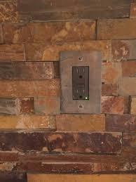 jeffrey court satin copper slate california gold rush slate ledger stone backsplash switch plate from switchhits backsplashbacksplash ideaskitchen