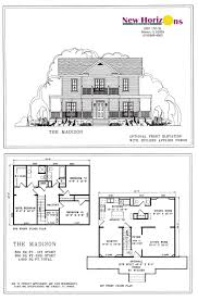 2 story house floor plans and elevations