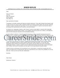 How To Write A Cover Letter To Write A Letter To A Teacher Teacher Cover Letter U2013 Cover