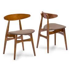 Mid Century Modern Dining Room Tables Baxton Studio Flamingo Mid Century Dark Walnut Wood 5pc Dining Set