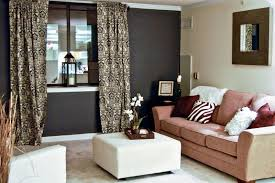 accent walls in living room simple browen wooden dinning table