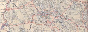 Map Az Historic U S Highway 70 Through Arizona On Vintage Postcards