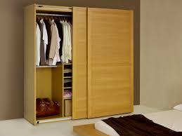 Maple Wood Bedroom Furniture Natural Polished Maple Wood Wardrobe Closet Organizer With Sliding
