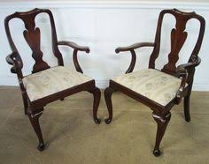 Henkel Harris Dining Room Set Of Six Henredon Queen Anne Style Mahogany Dining Chairs