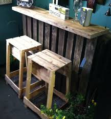 Pallets Patio Furniture - the pallet bar looks great indoors as well pallet and