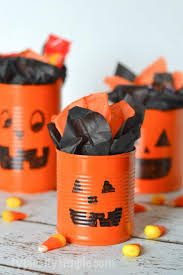 Halloween Tin Can Crafts Tin Can Pumpkins Craft Tutorial An Easy Halloween Idea