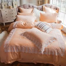 embroidered duvet cover 100 egyptian cotton bed sheet lace edge