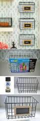 Kitchen Organization Ideas Pinterest Best 25 Wall Basket Ideas Only On Pinterest Kitchen