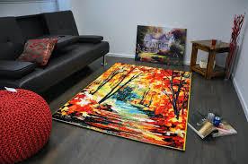 Coloured Rug Artistic Modern Multi Coloured Rug Autumn Ahoc Ltd