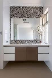 bathroom dark bubble pattern backsplash tiles black and white