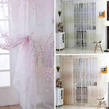 curtains home decor wintersweet pattern half shading curtain for door window room
