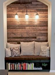 Reading Nook Furniture by Reading Nook With Wood Plank Wall Wood Plank Walls Planked