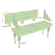 Wood Bench Plans Indoor by Indoor Or Outdoor Bench Plan