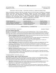 Office Manager Resume Summary  cover letter accounting director     Executive Format Resume Samples      For Office Manager  hotel       office manager