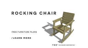 free diy furniture plans how to build a rocking chair the