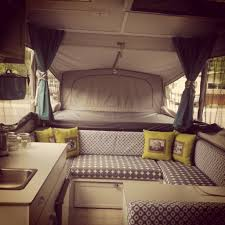 Pop Up Camper Interior Ideas by My Pop Up Camper Revamp Cabinets Painted White Valance Removed