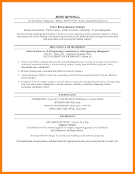 Civil Engineer Technologist Resume Templates 5 Internship Resume Templates Park Attendant