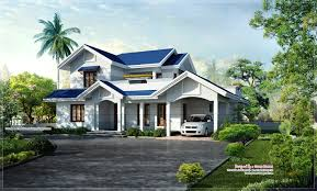 beautiful blue roof villa elevation in 2500 sq feet house design blue roof villa elevation facilities in this house total area 2500 sq ft