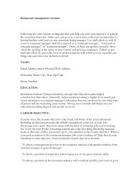 Objectives For Management Resume With Career Objective For Restaurant Management  Objectives For Example Resume  Sales Manager Or Major Account