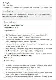 Human Resources Resume Examples best hr manager resume sample     happytom co Sample Resume for HR Assistant