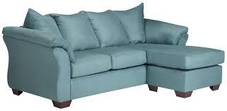 signature design by ashley vista sky contemporary sofa chaise